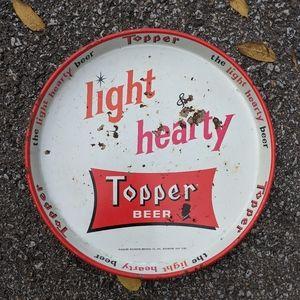 """VTG TOPPER Metal 12"""" Beer Tray"""